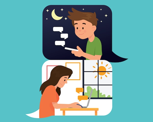 Concept de texto relation longue distance