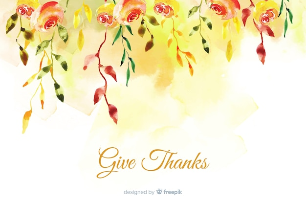 Concept de thanksgiving avec fond aquarelle