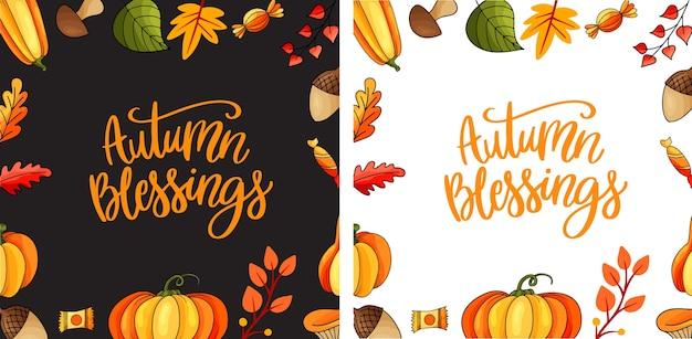 Concept de thanksgiving heureux avec lettrage. concept de thanksgiving avec un design plat