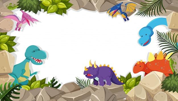 Concept de thème cadre dinosaure