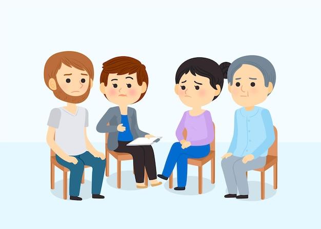 Concept de thérapie de groupe
