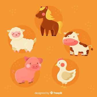 Concept de tirage de collection d'animaux domestiques