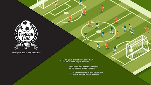 Concept de tournoi de football