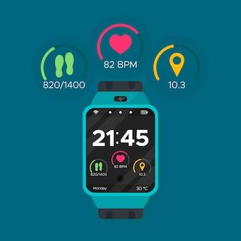 Concept de trackers de fitness