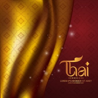 Concept traditionnel de modèle thaïlandais les arts de la thaïlande
