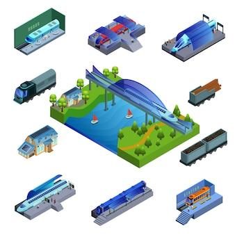 Concept de trains modernes isométriques