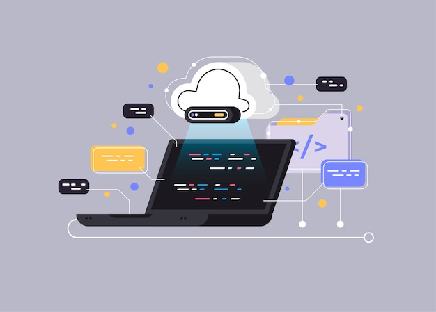 Concept de traitement de flux de données volumineuses, base de données cloud.