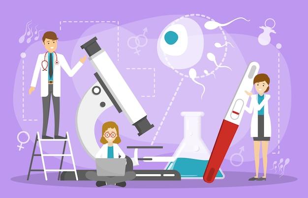 Concept de traitement de l'infertilité. idée de santé gynécologique