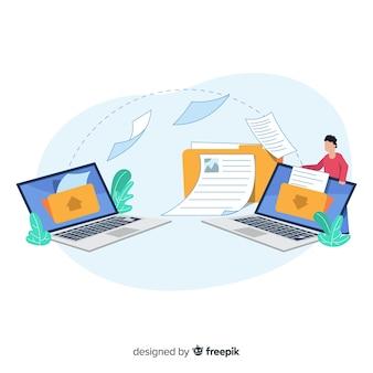 Concept de transfert de page de destination