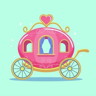 Concept de transport de cendrillon de conte de fées