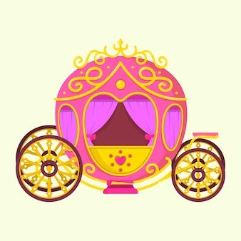Concept de transport de conte de fées