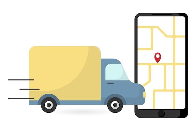 Concept de transport de fret concept de suivi des commandes de fret