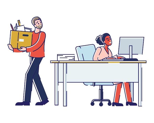 Concept de travail de bureau et de ressources humaines.