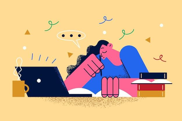 Concept de travail à distance et de communication en ligne