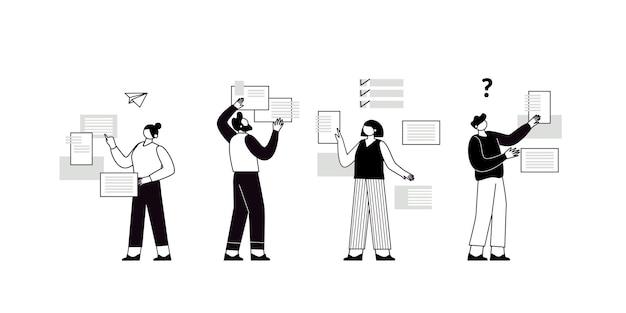 Le concept de travail d'équipe conjoint créant une équipe commerciale