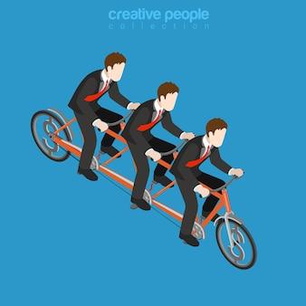 Concept de travail d'équipe entreprise entreprise entreprise