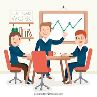 Concept de travail d'équipe avec des gens d'affaires prospères