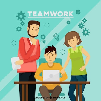 Concept de travail d'équipe avec des personnes