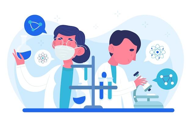 Concept de travail des scientifiques