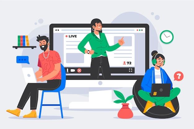 Concept de tutoriels en ligne