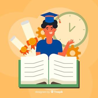 Concept universitaire plat