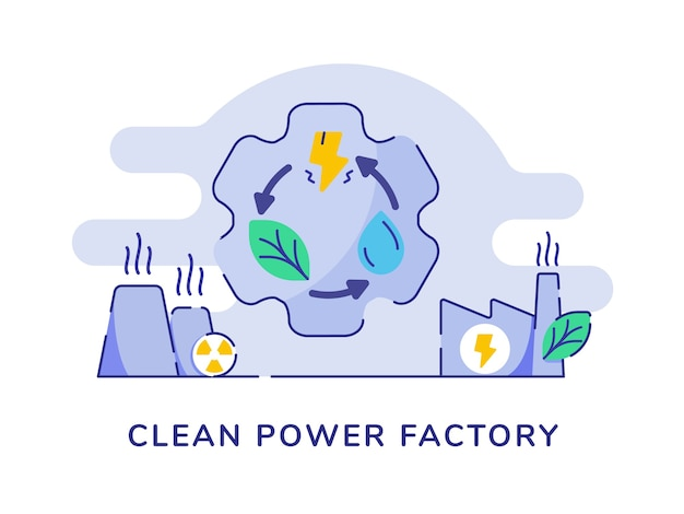 Concept d'usine d'énergie propre avec réutilisation de recyclage