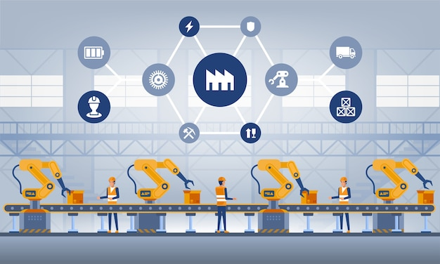Concept d'usine intelligente industrie 4.0