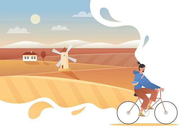 Concept de vacances automne voyage campagne, fond d'aventure week-end