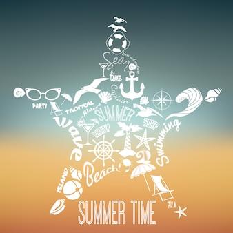 Concept de vacances d'été