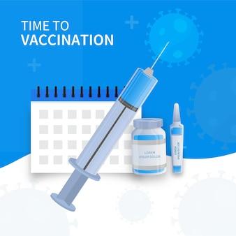 Concept de vaccination de la protection covid 19.