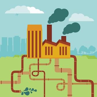 Concept de vecteur - bâtiment d'usine