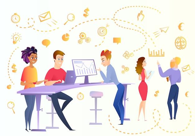 Concept de vecteur de dessin animé de spécialistes en analyse de données