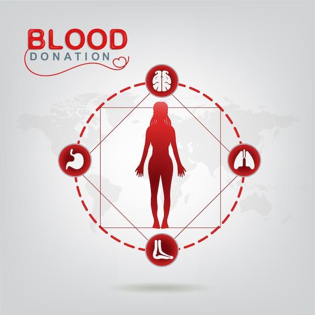 Concept de vecteur de don de sang - l'hôpital va recommencer une nouvelle vie