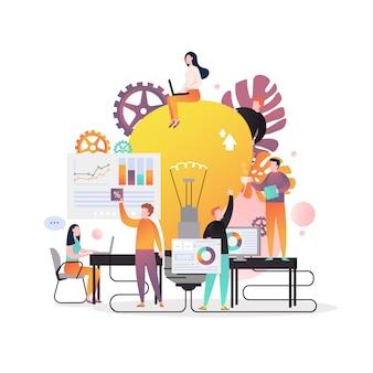 Concept de vecteur d'idée commerciale pour bannière web