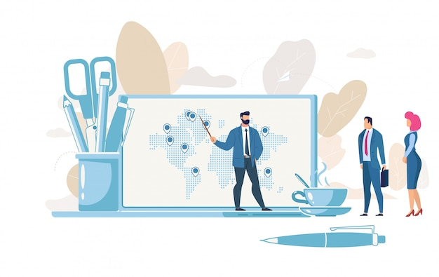 Concept de vecteur de planification de la croissance d'entreprise