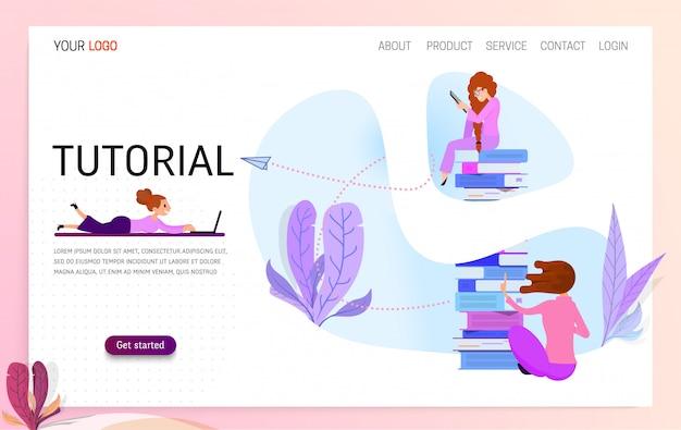 Concept de vecteur pour l'éducation en ligne