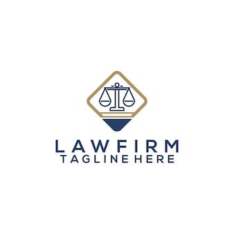Concept de vecteur pour le logo du cabinet d'avocats