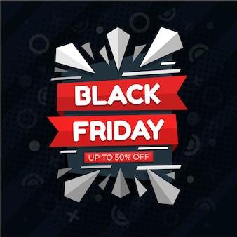 Concept de vendredi noir au design plat