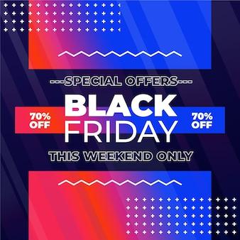 Concept de vendredi noir dégradé