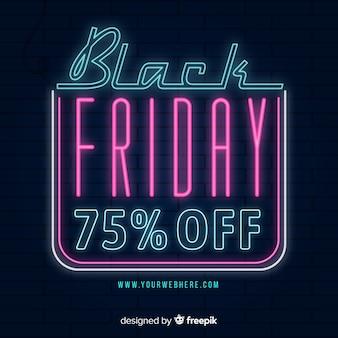 Concept de vendredi noir avec design néon