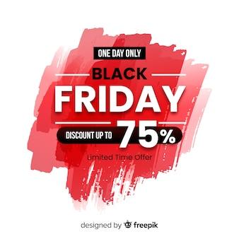 Concept de vendredi noir avec fond aquarelle