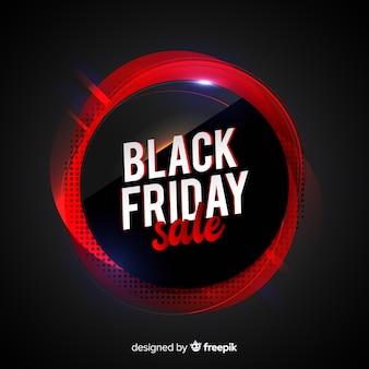 Concept de vendredi noir avec fond dégradé