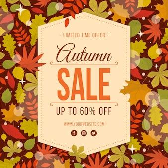 Concept de vente automne design plat