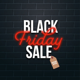 Concept de vente black friday avec étiquette de prix offre spéciale