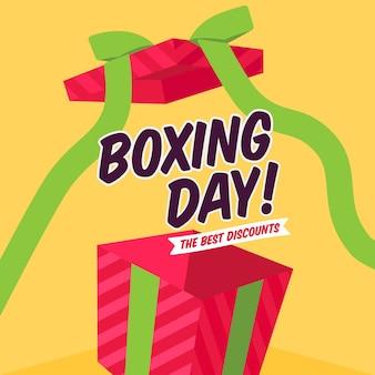 Concept de vente de boxe design plat
