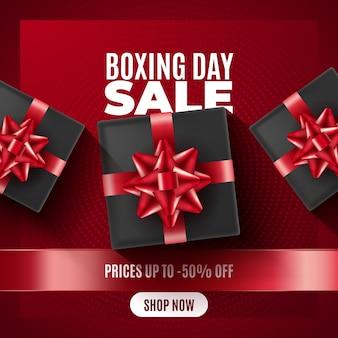Concept de vente de boxe réaliste