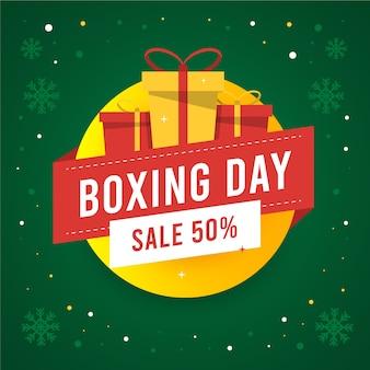 Concept de vente boxing day design plat