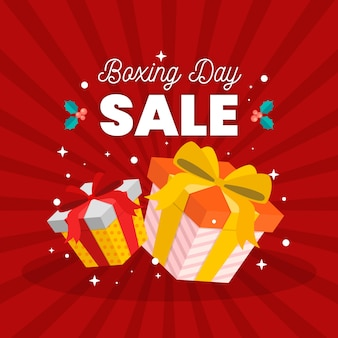 Concept de vente boxing day design plat