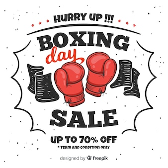 Concept de vente boxing day dessinés à la main