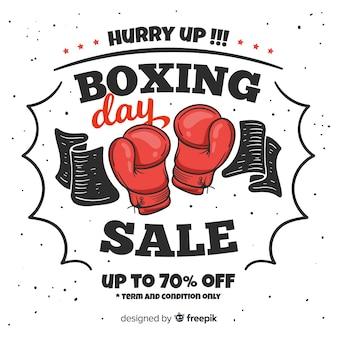 Concept de vente boxing day dessinés à la main